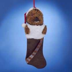 Kurt Adler Star Wars Chewbacca Plush Head Stocking, 20-Inch