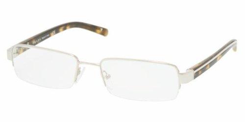 Prada 53m Silver / Tortoise Frame Metal Eyeglasses, 52mm -