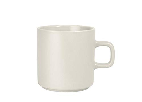 (blomus MIO Ceramic Coffee Cup 9 oz Moonbeam - Cream Set of 4)