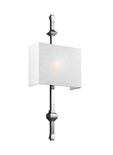 - Feiss WB1860PN Teva Wall Sconce Lighting, Chrome, 1-Light (12