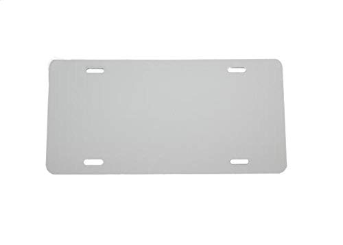 (5 Pack-$4.99/Each) Plastic License Plate Blank Vinyl Blank - .020 - Laser Cut and Made in USA ()