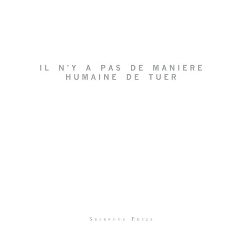 Download Il n'y a pas de Maniere Humine de Tuer (French Edition) PDF