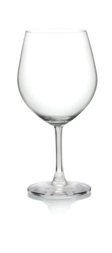 Pure and Simple Serve Burgundy Wine Glass, 23-Ounce, Set of 4 - Lancaster Colony Clear Glass