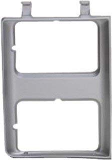 - QP G0715-a Chevy C10 C-10 K10 K-10 Silver Passenger Headlight Door Grille