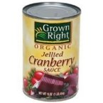 Grown Right Organic Jellied Cranberry Sauce, 14 Ounce -- 24 per case.