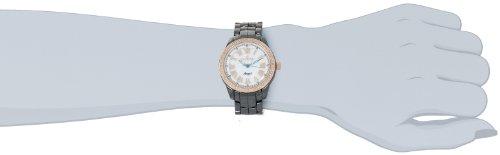 Invicta Women's 10328 Ceramics Angel White Mother-Of-Pearl Dial Diamond Accented Black Ceramic Watch