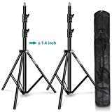 EMART Light Stand 8.5ft, Dual Spring Cushioned Adjustable Photo Video Lighting Stand, Heavy Duty Aluminum Construction with C