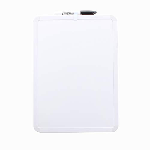 Magnetic Dry Erase Lapboard, Small Dry Erase Board for Students Single Sided Plain White Erase Board with Gel Ink Pen 14.4