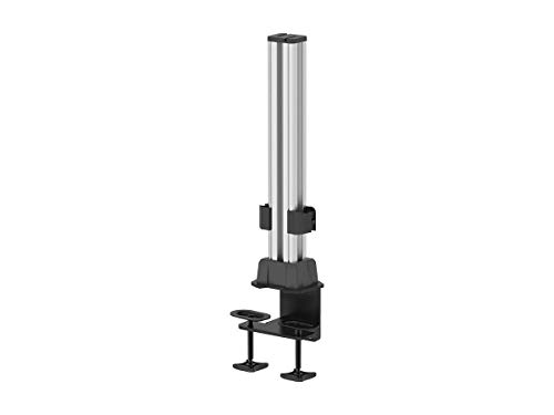 Monoprice Slat Vertical Column Rack/Rail Desk System - Silver for Monitor Displays & Desk Organization - Workstream Collection