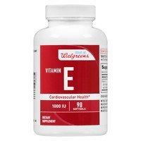 Walgreens Red Vitamin E 1000 IU Softgels, 90 ea