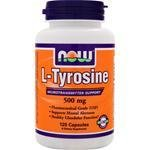Now Foods L-tyrosine, 120 Capsules 500mg / (Pack de 2)