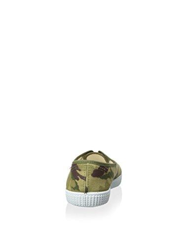 Cienta - Zapatilla de lona con cordones, niño verde/marrón