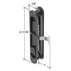 CRL Black Sliding Screen Door Latch and Pull with 2-5/8