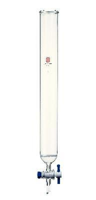 Kemtech C362620C SYNTHWARE Chromatography Column with Teflon Stopcock and Fritted Disc, 26 mm Outside Diameter, 203 mm Length, 0