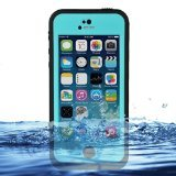 iPhone 5c Case Cover Waterproof Dirtproof Snowproof Shockproof Skin Phone Shell with Rugged Protection (Black / Blue)