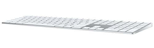 Apple Magic Keyboard with Numeric Keypad (Wireless, Rechargable) (US English) - Silver (Trackpad Apple Keyboard Connect)