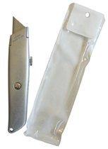 Retractable Blade Utility Knives, 7 in, Retractable Steel Blade, Zinc Alloy (48 Pack)