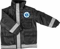 Black Paramedic Jacket Child (Size: Medium 4-6) (Paramedic Costume)