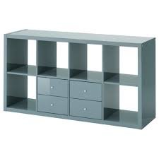 detailed look 4fa15 3b9ac Shelving Unit With Doors KALLAX High-Gloss Grey-Turquoise ...