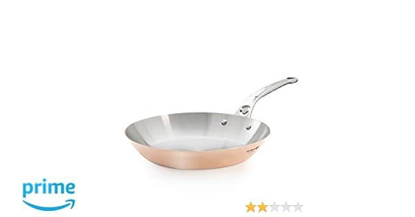De Buyer 6424.24 InoCuivre - Sartén de cobre y acero inoxidable (espesor 2 mm, diámetro 24 cm): Amazon.es: Industria, empresas y ciencia