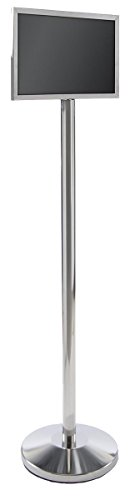 Weighted Base Stand Stanchion - Displays2go Floor Sign Stanchion Stand, Store/Restaurant, 17