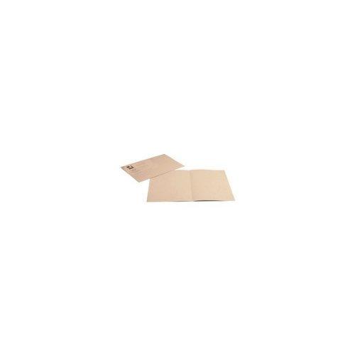 Q-Connect Buff Square Cut Folder Medium Weight Foolscap KF01190, 250 g - Pack of 100