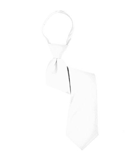 Boy's Solid Multi Color Zipper Ties (11in,