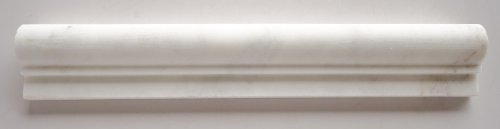 Bianco Venatino Marble 2 X 12 Honed OG-1 Chair Rail Trim Moulding - Standard Quality - Lot of 20 PCS.