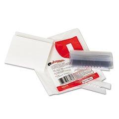 * Hanging File Folder Plastic Index Tabs, 1/3 Tab Cut, 3 1/2'' Tab, Clear, 25/Pack