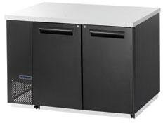 Maxx Cold MCBB60-2B Back Bar Cooler with 19 cu. ft. Capacity Painted black Coated Steel Exterior Solid Doors with Locks 1/3 HP Easy Cleaning and Servicing in