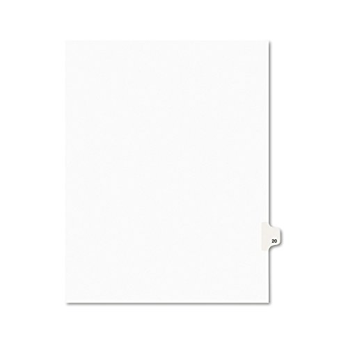 Avery Legal Dividers, Premium Individual Tab Titles, Letter Size, Side Tabs, 20, Pack of 25 (01020)