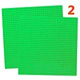 """10"""" x 10"""" Base Plate Set Compatible with Classic Baseplate Plates Green Board Mat"""