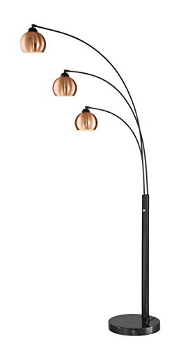 (Lite Source Braun Dark Bronze 3-Light Arc Floor Lamp)