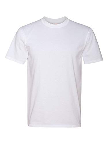 Anvil 780 Adult Midweight Tee - White, Large