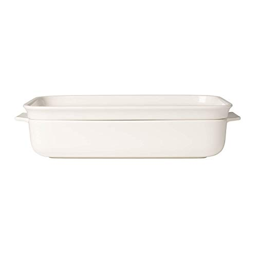 Pasta Passion Large Lasagne Dish & Lid by Villeroy & Boch - Premium Porcelain - Made in Germany - Dishwasher and Microwave Safe - 11.75  x 7.75 Inches