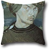 [Throw Cushion Covers Of Oil Painting Ivar Arosenius - Selfportrait,for Bedding,festival,lover,couch,office,kids Boys 16 X 16 Inches / 40 By 40 Cm(twice] (Simple Nursery Rhyme Costumes)