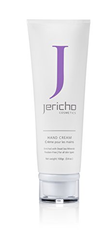 Jericho Cosmetics Dead Sea Hand Cream (3.5 Oz / 100 Gr) - Give Your Hands the Gift of Rich Dead Sea Mineral Treatment for Smoother and Softer Hands