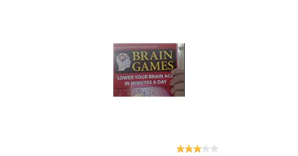 Brain Games Lower Your Brain Age In Minutes A Day Elkhonon Goldberg