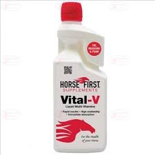 Horse First Vital-V 1 Litre - This Will Give Your Horse Or Pony The Correct Major Vitamin Quantities For Immediate Results - Essential for your horse when recovering from illness or viruses