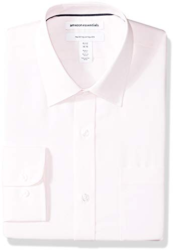 Amazon Essentials Mens Regular-Fit Long-Sleeve Solid Dress Shirt