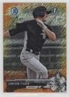 Jameson Fisher #9/25 (Baseball Card) 2017 Bowman Chrome - Prospects - Orange Shimmer Refractor #BCP234 (Fisher Orange Baseball)