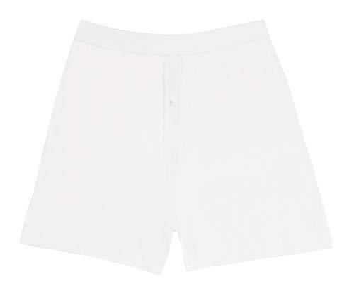 Jack & Jill Boys Knit Boxer Shorts White 3-Pack 100% Cotton ()