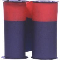 Acroprint Red Ribbon - Acroprint Ribbon for Model 125 and Model 150 Heavy-Duty Time Clocks, Blue/Red (20-0106-002) **2 PACK**