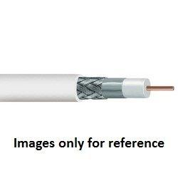 1000 CommScope 4100903/10 34 AWG Plenum vestido sólido cobre blanco RG 6 Cable