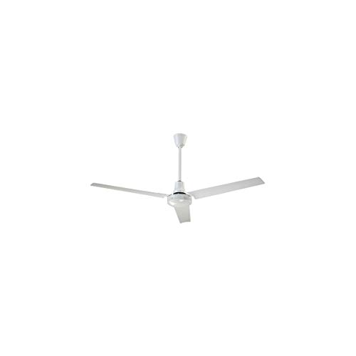 Canarm High-Performance Industrial-Grade Reversible Ceiling Fan – 56in. White, 27,500 CFM, Model Number CP56HPWP