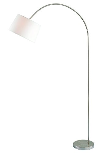 Kenroy Home Triumph Arc Floor Lamp, Brushed Steel Finish