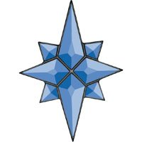 - Stained Glass Supplies Flat Star Blue Glass Bevel Cluster 5 x 7 When Complete