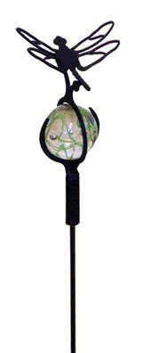 38 Inch Dragonfly Marble Garden Stake