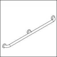 Hafele Bath and Washrooms 988-62-1 ; 988 62 1 Hewi Grab Bar with Center Support A-36 inch, Dia. 1 5/16 inch (Bath Accessories Hafele)