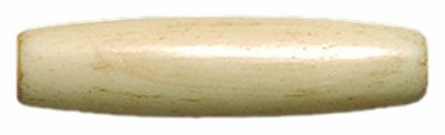 Shipwreck Beads India Bone Antique Hair Pipe Beads, 1-Inch, Tan, 75-Pack ()